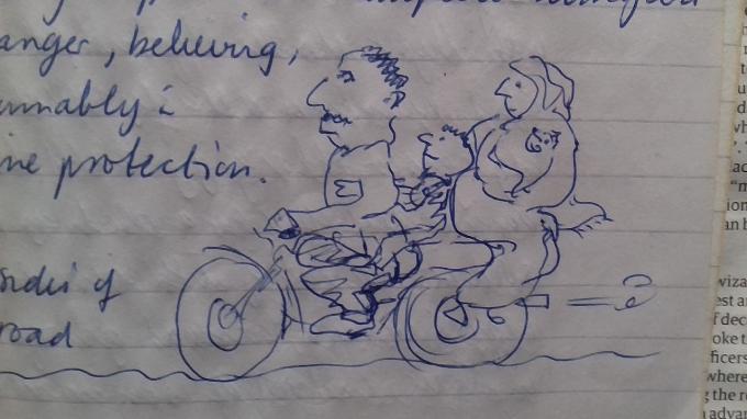 Karachi family bike